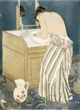 Mary Cassatt (American, 1844-1926). La Toilette, ca. 1891-1892. Drypoint and aquatint on laid paper, Sheet: 17 1/16 x 11 7/8 in. (43.3 x 30.2 cm). Brooklyn Museum, Museum Collection Fund, 39.107