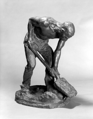 Chester Beach (American, 1881-1956). The Stoker, 1912. Bronze, 22 x 10 1/2 x 17 in. (55.9 x 26.7 x 43.2 cm). Brooklyn Museum, Gift of Samuel A. Lewisohn, 39.116. Creative Commons-BY