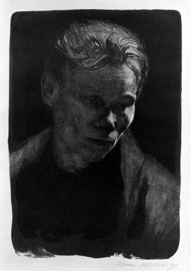 Brooklyn Museum: Bust of a Working Woman in a Blue Shawl (Brustbild einer Arbeiterfrau mit blauem Tuch)