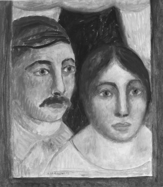 Abraham Walkowitz (American, born Siberia, 1878-1965). Man and Wife, ca. 1908. Oil on paper, 17 x 14 15/16 in. (43.2 x 37.9 cm). Brooklyn Museum, Gift of the artist, 39.234