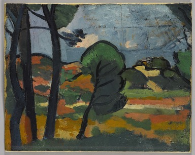 André Derain (French, 1880-1954). Landscape in Provence (Paysage de Provence), ca. 1908. Oil on canvas, 12 11/16 x 16 in. (32.2 x 40.6 cm). Brooklyn Museum, Anonymous gift, 39.273