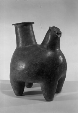 Equador Animal Effigy Vessel, 1000-1500 C.E. Clay, slip, 17 3/4 x 12 x 14 5/8 in.  (45.1 x 30.5 x 37.1 cm). Brooklyn Museum, Museum Expedition 1938, Dick S. Ramsay Fund, 39.279. Creative Commons-BY
