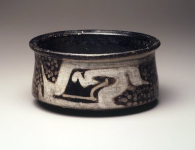 Bowl, 500 B.C.E.-500 C.E. Clay, resist decoration, slips, 3 x 6 1/8 in.  (7.6 x 15.6 cm). Brooklyn Museum, Museum Expedition 1938, Dick S. Ramsay Fund, 39.291. Creative Commons-BY