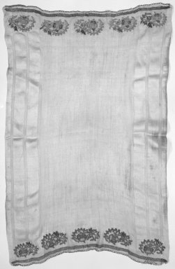 Small Towel, 19th century. Textile, 45 x 71 in. (114.3 x 180.3 cm). Brooklyn Museum, Gift of Florence Harvey Linden, 39.348. Creative Commons-BY
