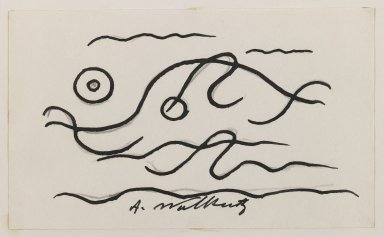Abraham Walkowitz (American, born Siberia, 1878-1965). Fish Design, ca. 1913. Ink over graphite on paper, Sheet (drawing): 3 x 5 in. (7.6 x 12.7 cm). Brooklyn Museum, Gift of the artist, 39.472a
