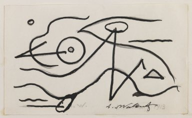 Abraham Walkowitz (American, born Siberia, 1878-1965). Fish Design, 1913. Ink over graphite on paper, Sheet (mount): 10 7/8 x 8 1/2 in. (27.6 x 21.6 cm). Brooklyn Museum, Gift of the artist, 39.472b