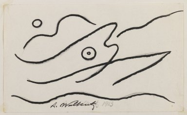 Abraham Walkowitz (American, born Siberia, 1878-1965). Fish Design, 1913. Ink over graphite on paper, Sheet (mount): 10 7/8 x 8 1/2 in. (27.6 x 21.6 cm). Brooklyn Museum, Gift of the artist, 39.472c