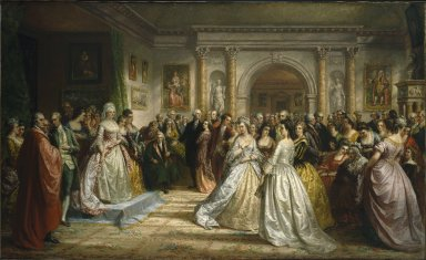 Brooklyn Museum: The Republican Court (Lady Washington's Reception Day)