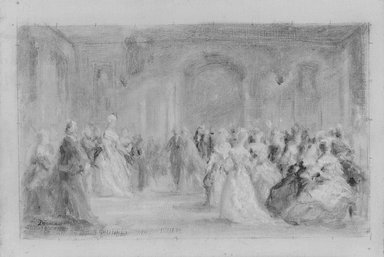 Brooklyn Museum: Sketch for The Republican Court