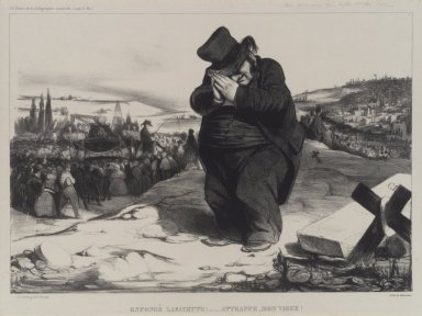 Honoré Daumier (French, 1808-1879). Enfoncé Lafayette!... Attrappe, Mon Vieux!, May 1834. Lithograph on Chine collé paper, Sheet: 12 11/16 x 17 3/8 in. (32.2 x 44.1 cm). Brooklyn Museum, Carll H. de Silver Fund, 39.542
