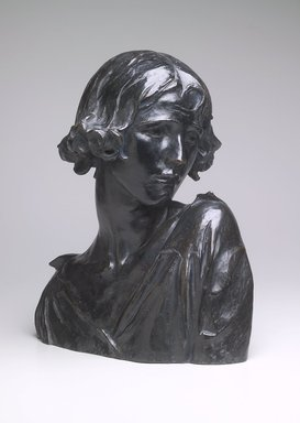 Alexander Sterling Calder (American, 1870-1945). Head, ca. 1921. Bronze, 17 5/16 x 15 3/8 x 10 in. (44 x 39.1 x 25.4 cm). Brooklyn Museum, Gift of Sam A. Lewisohn, 39.560. Creative Commons-BY