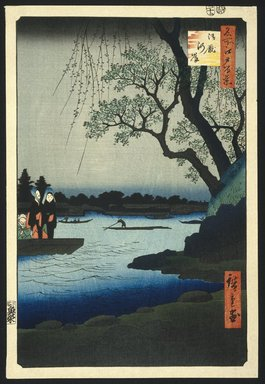 Utagawa Hiroshige (Ando) (Japanese, 1797-1858). Oumayagashi, No. 105 from One Hundred Famous Views of Edo, 12th month of 1857. Woodblock print, 14 1/16 x 9 1/2in. (35.7 x 24.1cm). Brooklyn Museum, Frank L. Babbott Fund, 39.581