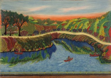 Israel Litwak (American, 1867-1960). Loch Sheldrake, N.Y., 1939. Pastel crayon and graphite on paperboard, coated with shellac, Sheet: 16 15/16 x 22 1/8 in. (43 x 56.2 cm). Brooklyn Museum, Gift of the artist, 39.594. © Estate of Israel Litwak