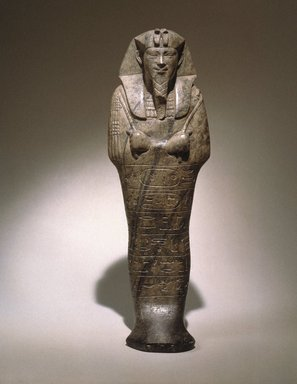 Nubian. Ushabti of Senkamanisken, ca. 643-623 B.C.E. Steatite, 8 9/16 x 2 11/16 x depth at base 1 15/16 in. (21.7 x 6.9 x 5 cm). Brooklyn Museum, By exchange, 39.5. Creative Commons-BY