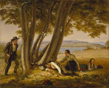 William Sidney Mount (American, 1807-1868). Caught Napping (Boys Caught Napping in a Field), 1848. Oil on canvas, 29 1/16 x 36 1/8 in. (73.8 x 91.7 cm). Brooklyn Museum, Dick S. Ramsay Fund, 39.608