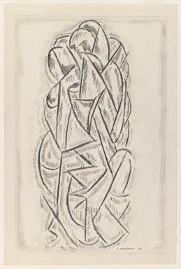 Abraham Walkowitz (American, born Russia, 1878-1965). Abstraction, 1912. Graphite on medium, cream, moderately textured, laid paper, Sheet: 19 x 12 5/8 in. (48.3 x 32.1 cm). Brooklyn Museum, Gift of the artist, 39.655