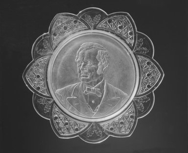 Plate (Thomas Hendricks), 1884-1889. Glass, 1 1/8 x 11 3/8 x 11 3/8 in. (2.9 x 28.9 x 28.9 cm). Brooklyn Museum, Gift of Mrs. William Greig Walker by subscription, 40.161. Creative Commons-BY