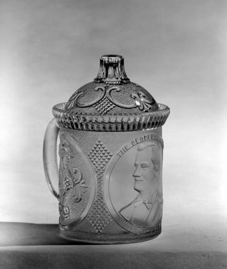 Brooklyn Museum: Mug with Lid (William McKinley)