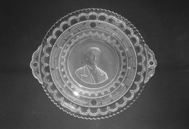 Plate (Nathaniel P. Banks), ca. 1898. Glass, 1 1/8 x 8 3/4 x 7 3/4 in. (2.9 x 22.2 x 19.7 cm). Brooklyn Museum, Gift of Mrs. William Greig Walker by subscription, 40.178. Creative Commons-BY