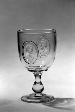 Goblet (Ulysses S. Grant & Henry Wilson), ca. 1877. Glass, 6 1/4 x 3 1/2 x 3 1/2 in. (15.9 x 8.9 x 8.9 cm). Brooklyn Museum, Gift of Mrs. William Greig Walker by subscription, 40.184. Creative Commons-BY