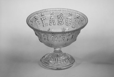 Unknown. Compote (George Peabody), late 19th century. Glass, 4 3/8 x 5 1/2 x 5 1/2 in. (11.1 x 14 x 14 cm). Brooklyn Museum, Gift of Mrs. William Greig Walker by subscription, 40.187. Creative Commons-BY