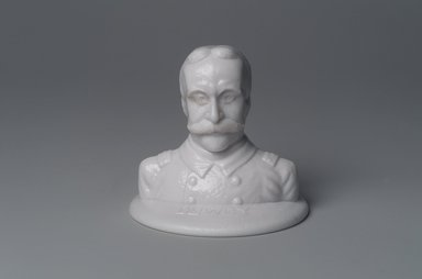 American. Bust of Admiral George Dewey, 1899. Glass, 3 1/2 x 3 7/8 x 3 7/8 in. (8.9 x 9.8 x 9.8 cm). Brooklyn Museum, Gift of Mrs. William Greig Walker by subscription, 40.266. Creative Commons-BY