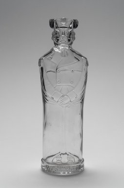 American. Bottle, Figure of George Washington, late 19th century. Glass, 9 1/2 x 3 1/8 x 2 3/4 in. (24.1 x 7.9 x 7 cm). Brooklyn Museum, Gift of Mrs. William Greig Walker by subscription, 40.275. Creative Commons-BY