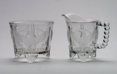 American. Cream Pitcher or Creamer, ca. 1898. Glass, 4 1/2 x 5 1/4 x 3 3/8 in. (11.4 x 13.3 x 8.6 cm). Brooklyn Museum, Gift of Mrs. V. B. Howe, 40.377.2. Creative Commons-BY