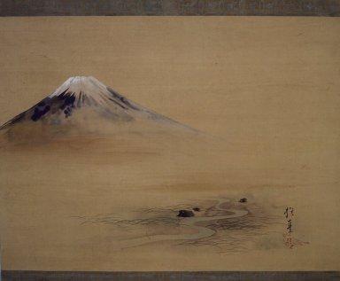 Sakai Hoitsu (Japanese, 1761-1828). Painting of Mount Fuji, 1615-1868. Hanging Scroll, painting on silk, 30 11/16 x 51 11/16 in. (78 x 131.3 cm). Brooklyn Museum, 40.509