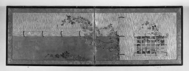 Furosaki. Two-fold Screen, 17th century., 24 3/16 x 71 1/16 in. (61.4 x 180.5 cm). Brooklyn Museum, A. Augustus Healy Fund, 40.515