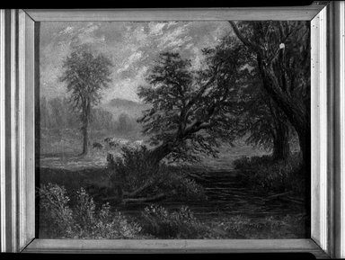 D. S. Pierce (American, active mid-19th century). Landscape, mid-19th century. Oil on canvas, 8 1/16 x 10 1/16 in. (20.4 x 25.6 cm). Brooklyn Museum, Dick S. Ramsay Fund, 40.683