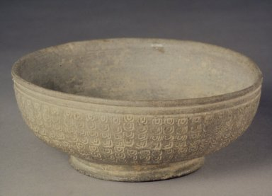 Bowl, 7th-8th century. Stoneware, Height: 2 1/8 in. (5.4 cm). Brooklyn Museum, Gift of Sir George Sanson, 40.719. Creative Commons-BY