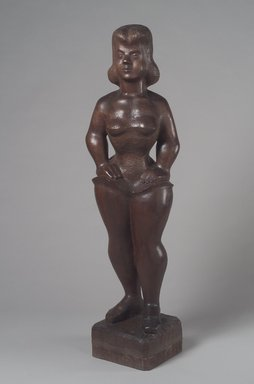 Chaim Gross (American, born Austria, 1904-1991). Ballerina, 1940. Imbuya wood, 52 x 12 x 11 3/4 in. (132.1 x 30.5 x 29.8 cm). Brooklyn Museum, Courtesy of the Fine Arts Program, U.S. General Services Administration and the Ella C. Woodward Memorial Fund, 40.874