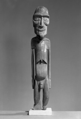 Standing Male Figure, Moai Kavakava, ca. 1880. Wood sculpture, 26 x 5 1/8 x 4 3/4 in.  (66 x 13 x 12 cm). Brooklyn Museum, Ella C. Woodward Memorial Fund, 40.918. Creative Commons-BY