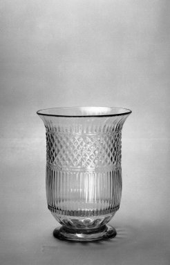 American. Celery Vase, 19th century. Glass, 6 3/4 x 5 1/8 in. (17.2 x 13 cm). Brooklyn Museum, Dick S. Ramsay Fund, 40.97. Creative Commons-BY