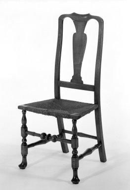 Side Chair, 1725-1750. Maple, 40 1/2 x 14 9/16 x 18 1/2 in. (102.9 x 37 x 47 cm). Brooklyn Museum, Gift of Mrs. Francis P. Garvan in memory of Francis P. Garvan, 41.1204.1. Creative Commons-BY