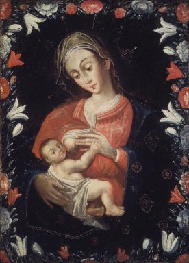 Unknown. Madonna and Child. Oil on canvas, 38 x 28 in. (96.5 x 71.1 cm). Brooklyn Museum, Carll H. de Silver Fund, 41.1250