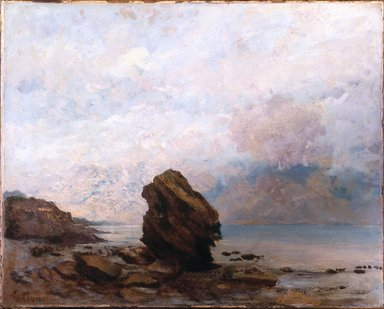 Gustave Courbet (French, 1819-1877). Isolated Rock (Le Rocher isolé), ca. 1862. Oil on canvas, 25 1/2 x 32 in. (64.8 x 81.3 cm). Brooklyn Museum, Gift of Mrs. Horace O. Havemeyer, 41.1258