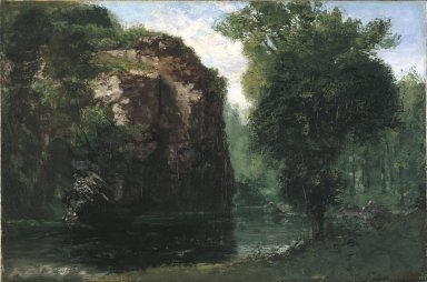 Gustave Courbet (French, 1819-1877). The Silent River, 1868. Oil on canvas, 27 7/8 x 42 3/16 in. (70.8 x 107.2 cm). Brooklyn Museum, Gift of Mrs. Horace O. Havemeyer, 41.1259