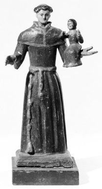 Standing Figure of San Antonio with Christ Child in One Hand. Wood, 10 x 5 x 4 in. (25.4 x 12.7 x 10.2 cm). Brooklyn Museum, Museum Expedition 1941, Frank L. Babbott Fund, 41.1273.13. Creative Commons-BY