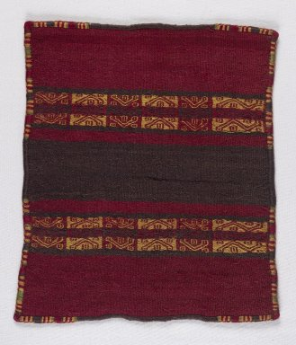 Inca. Miniature Mantle, 1400-1532. Camelid fiber, 9 7/16 x 10 5/8 in. (24 x 27 cm). Brooklyn Museum, Museum Expedition 1941, Frank L. Babbott Fund, 41.1275.107. Creative Commons-BY