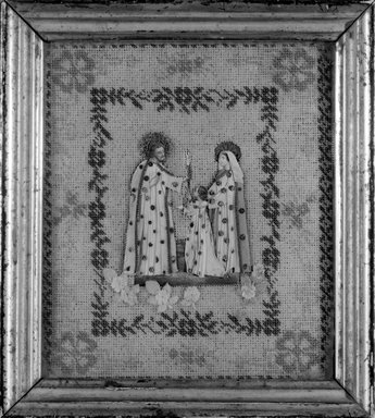 Picture of Holy Family, 19th century (probably). Beadwork, paper, rice glue, 9 x 8 in. (22.9 x 20.3 cm). Brooklyn Museum, Museum Expedition 1941, Frank L. Babbott Fund, 41.1275.117