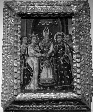 Marriage of the Virgin and Joseph, late 17th-early 18th century., 24 x 19 in. (61 x 48.3 cm). Brooklyn Museum, Museum Expedition 1941, Frank L. Babbott Fund, 41.1275.176