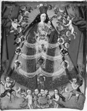 Cuzco School. Our Lady of Pomata, 1675. Oil on canvas, 44 3/4 x 35 1/2in. (113.7 x 90.2cm). Brooklyn Museum, Museum Expedition 1941, Frank L. Babbott Fund, 41.1275.177