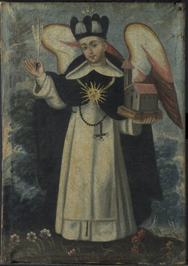 San Thomas Aquino, 18th century. Oil on canvas, Frame: 25 1/2 x 19 1/2 in. (64.8 x 49.5 cm). Brooklyn Museum, Museum Expedition 1941, Frank L. Babbott Fund, 41.1275.188