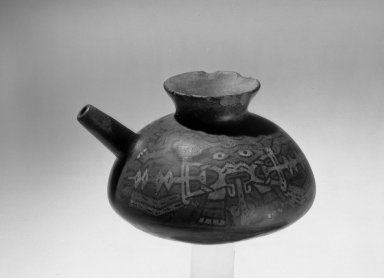 Nasca. Small Jar, 300 B.C.E. - 400 C.E. Ceramic, pigment, 3 7/8 x 6 1/8 in. (9.8 x 15.5 cm). Brooklyn Museum, Museum Expedition 1941, Frank L. Babbott Fund, 41.1275.20. Creative Commons-BY