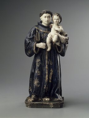 Figure of St. Anthony and the Christ Child, 1806. Wood, polychrome, 11 1/2 x 6 x 3 1/2in. (29.2 x 15.2 x 8.9cm). Brooklyn Museum, Museum Expedition 1941, Frank L. Babbott Fund, 41.1275.215. Creative Commons-BY