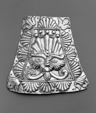 Ornamental Plaque. Metal:  Silver, 8 5/8 x 9  5/16 in. Brooklyn Museum, Museum Expedition 1941, Frank L. Babbott Fund, 41.1275.236. Creative Commons-BY