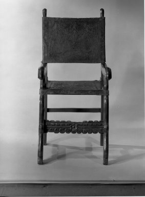 Armchair with Tooled Seat and Back. Wood, leather Brooklyn Museum, Museum Expedition 1941, Frank L. Babbott Fund, 41.1275.26. Creative Commons-BY