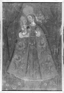Virgin del Rosario. Oil painting, Frame: 43 1/2 x 35 1/4 in. (110.5 x 89.5 cm). Brooklyn Museum, Museum Expedition 1941, Frank L. Babbott Fund, 41.1275.380